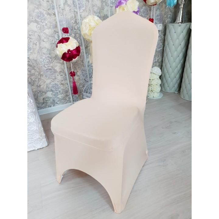 Цветы на спинку стула цвет пудровый / бежевый