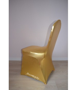Цветной чехол из спандекса c вырезом для ног (золото)
