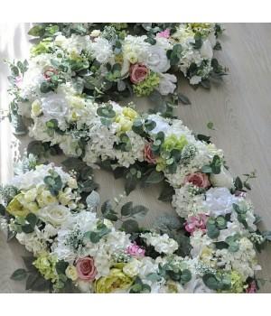 Гирлянда из искусственных цветов на гибком основании