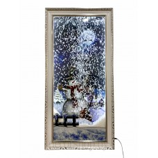 Картина с падающим снегом