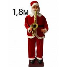 Дед Мороз играющий на саксофоне №28