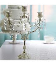 Металлический подсвечник со стеклярусом на 3 свечи