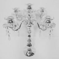 Металлический подсвечник на 5 свечей со стеклярусом