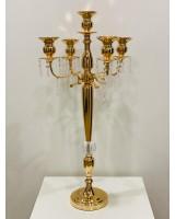 Канделябр на 5 свечей золото