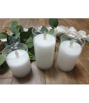 Набор из 3х свечей в стеклянных колбах