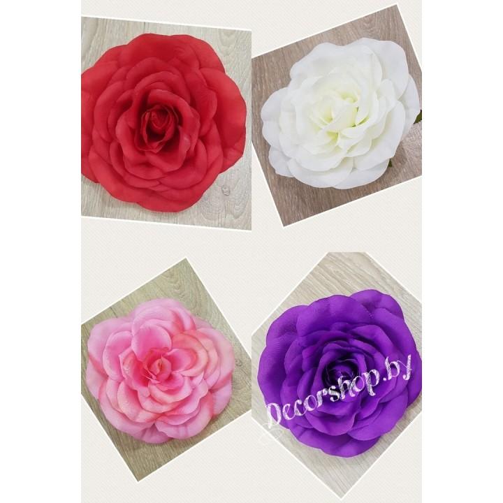 Головы роз зефирные 15 см
