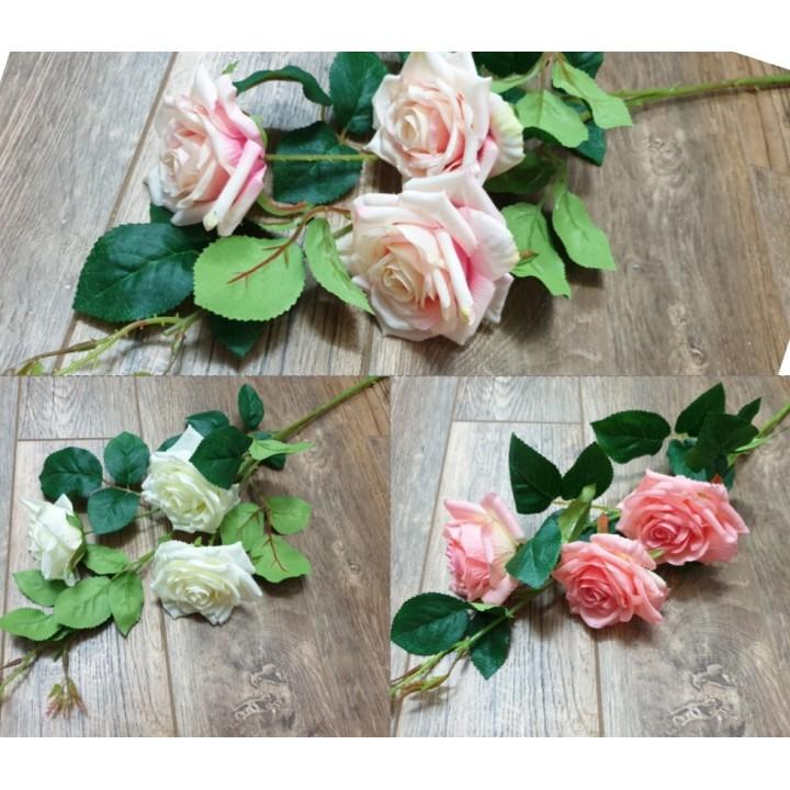 Искусственная ветка розы 79 см