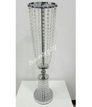 Подставка металлическая со стеклярусом серебро