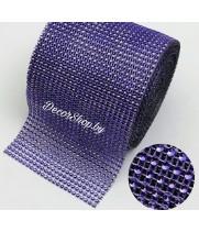 Имитация страз в рулоне фиолетовый